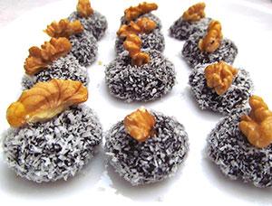 Bocaditos de coco: Ricos, naturales y con alta cantidad de fibra.